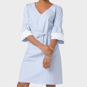 Light blue/ white striped dress